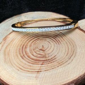 Swarovski Crystal Gold Cuff